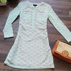 Victoria Beckham Mint Green Mini Lace Dress💚